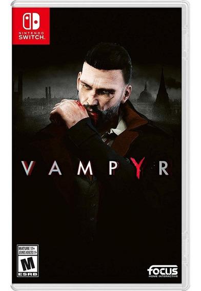 Vampyr Nintendo Switch Mídia Física Novo E Lacrado!