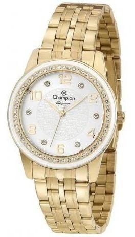 Relógio Champion Feminino Ref: Cn25761h Casual Dourado