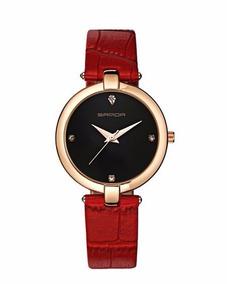 Relógio De Luxo + Pulseira De Couro + Frete Grátis