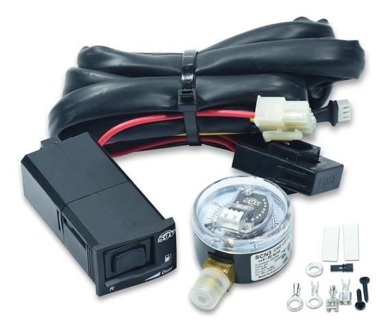 Kit Chave Comutadora Com Manometro Sgv Cn Dual Gnv Original