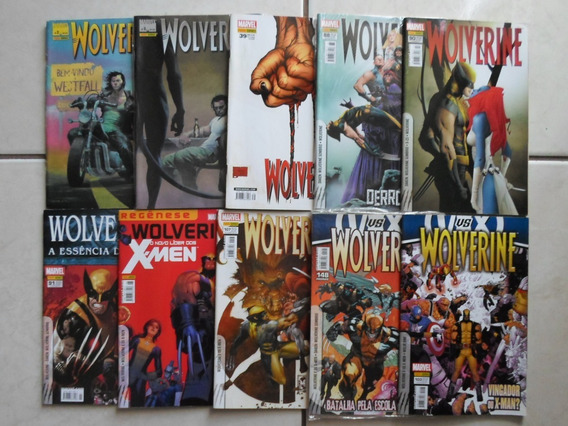 Lote Com 10 Hqs Wolverine Panini 1° Série 2005/2013