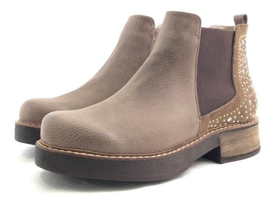 Penélope 1299 Borcego Cuero Cómodo El Mercado De Zapatos!