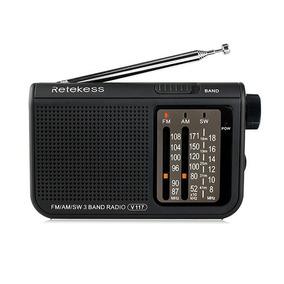 Rádio Receptor Retekess V-117 Am/fm/sw Preto Frete Grátis