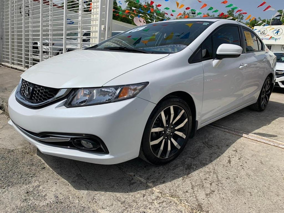 Honda Civic Exl Blanco Full 2015