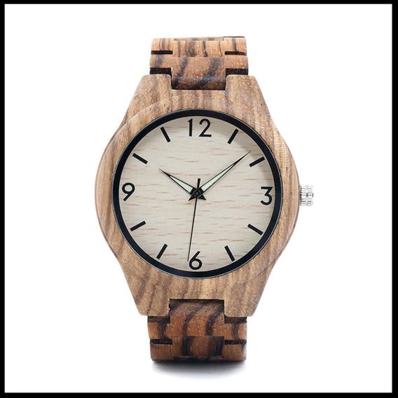 Relógio Masculino Bobo Bird Caixa Madeira Presente Wg24