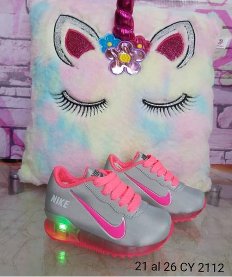 Zapato Nike Niños Deportivos Luces Excelente Calidad