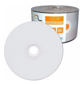 600 Cd-r Multilaser Mídia Printable Imprimível - Nota Fiscal