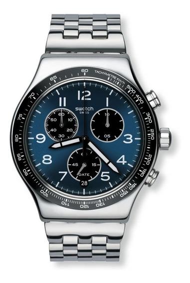 Relógio Swatch Boxengasse Yvs423g Aço Prata Original