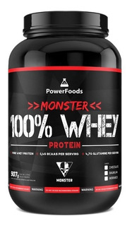 Monster 100% Whey Protein Powerfoods Chocolate 907g