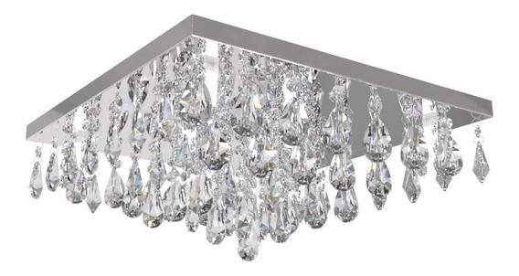Plafon Lustre De Cristal 42cm Sala Hall Quarto C/ Led 312