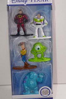 Disney Pixar Nano Metalfigs Set X 5 Figuras De Metal Jada.!