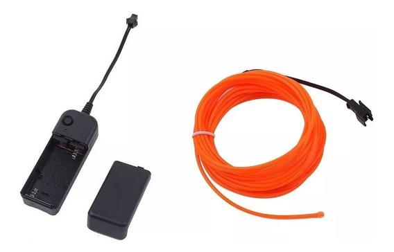 Cable Hilo Wire Neon 3mts Dj Festival Pilas Gratis Led Flex