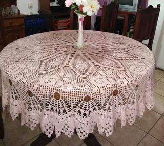 Mantel Redondo Tejido A Crochet