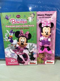 Livro Minnie Mouse Bow-tique Canções Para Toda Hora