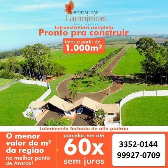Terreno Em Condomínio Para Venda Em Araras, Portal Das Laranjeiras - E-008_2-670563