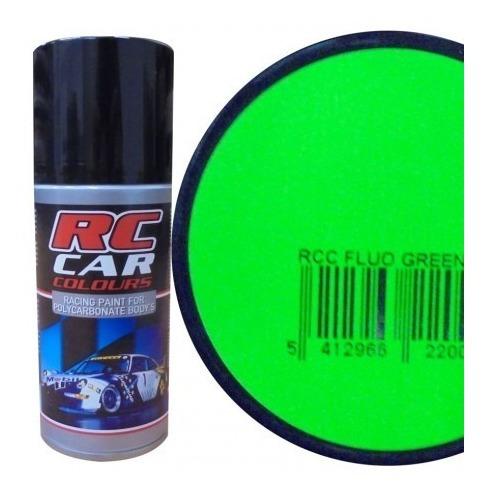 Rc Car1008 Tinta Spray Verde Fluo Polycarbonato P/bolha Aut.