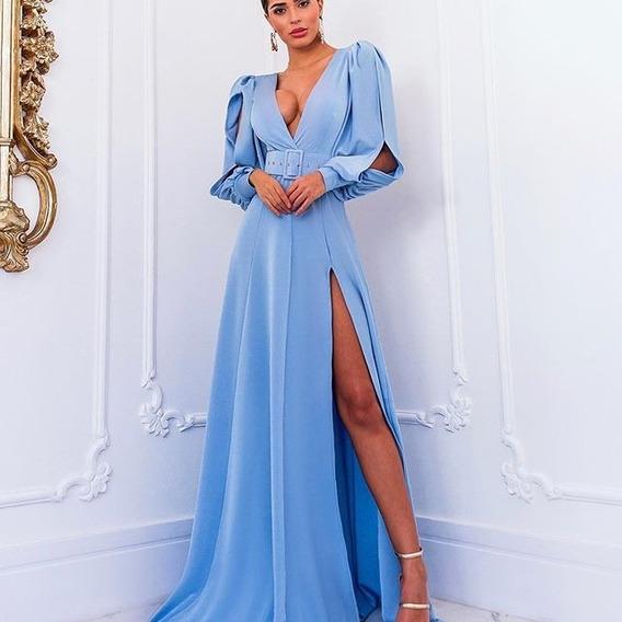 Vestido Madrinha Casamento Azul Turquesa Vestidos