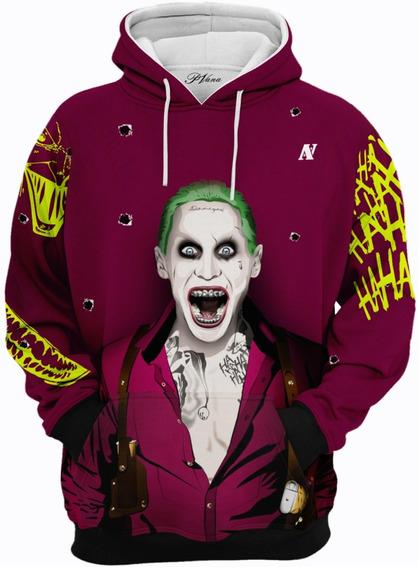 Moletom Joker Casaco Capote Blusão Filme Maconha