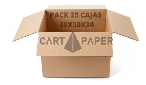 Cajas De Cartón 30x30x30 / Pack 25 Cajas / Cart Paper