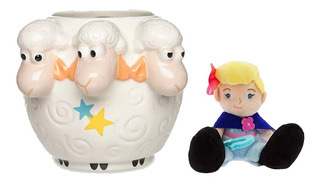 Disney Store Toy Story Ovejas Taza + Micro Peluche Bo Peep!!