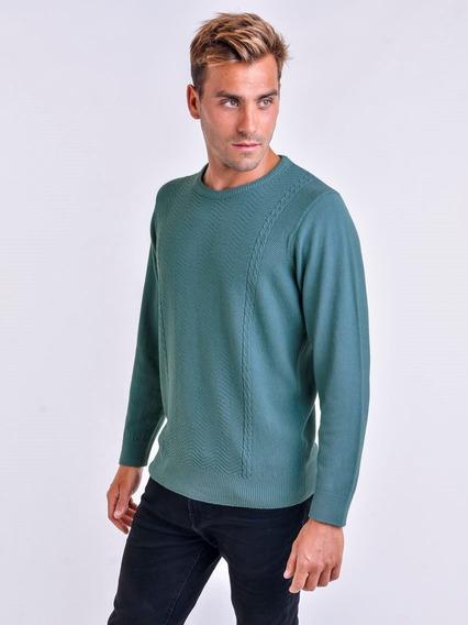 Sweater Cuello Redondo Cristal Líneas Mauro Sergio !