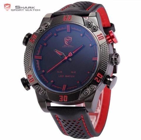 Relógio Esporte Shark Gulper Sh 261 Sh103 Dual Time Led