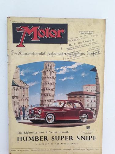 Revista The Motor 16 De Setembro 1953 Humber Super Snipe Rar