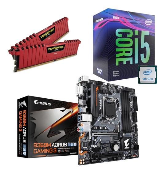 Kit Intel I5 9400f Aorus B360m Gaming 3 Vg 2x 8gb 2400mhz