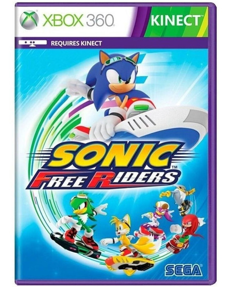 Jogo Sonic Free Riders (kinect) Xbox 360 Usado