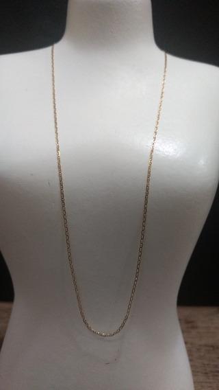 Corrente Laminada, 40cm, Ouro 18k