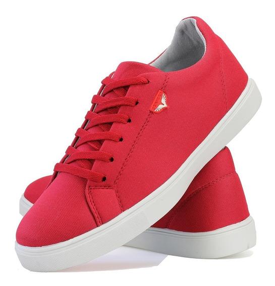 Sapatenis Tenis Casual Jogger Jogging Lifestyle Vermelho