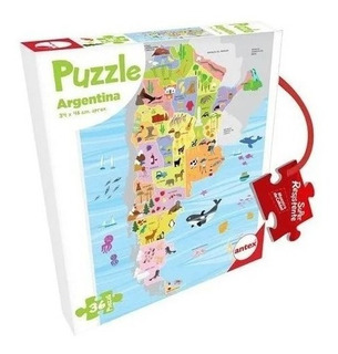Puzzle Rompecabezas Antex Argentina 36 Piezas