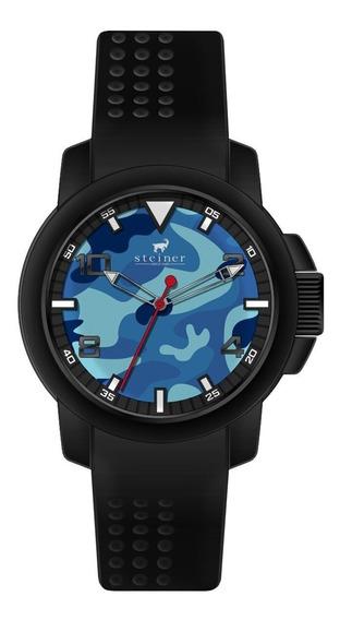 Reloj Steiner Caballero Silicon Negro Fondo