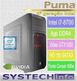 Computador Intel I7 8700 8ª Geração Gtx1050 2gb - Puma