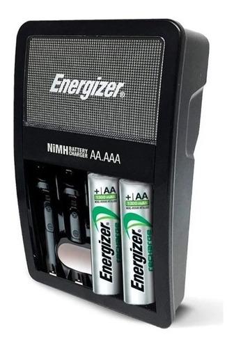 Imagen 1 de 6 de Cargador 2/4 Pilas Energizer Maxi + 2 Aa Recargables 1300mah