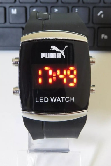 Relógio Unisex Quadrado Digital Led Preto Novidade