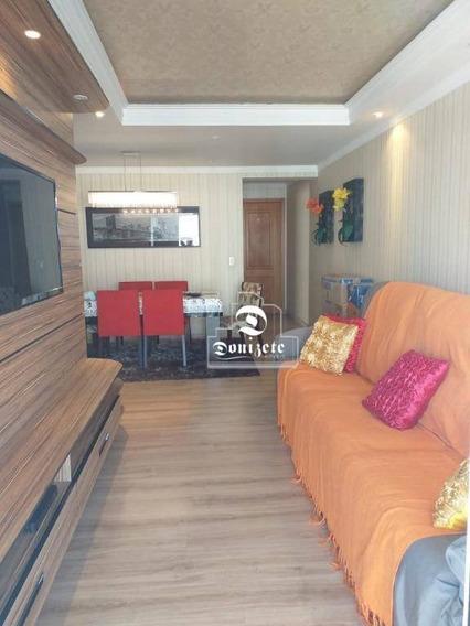 Apartamento Com 3 Dormitórios Para Alugar, 85 M² Por R$ 2.000/mês - Vila Valparaíso - Santo André/sp - Ap3090