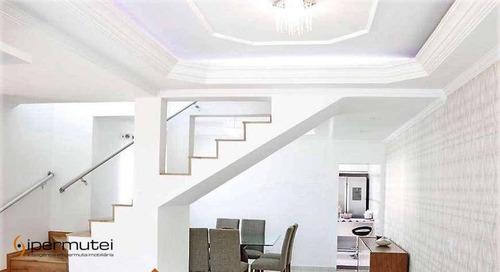 Linda Casa Com 3 Dormitórios À Venda, 167 M² - Jardim Nova Coimbra - Cotia/sp - Ca0057