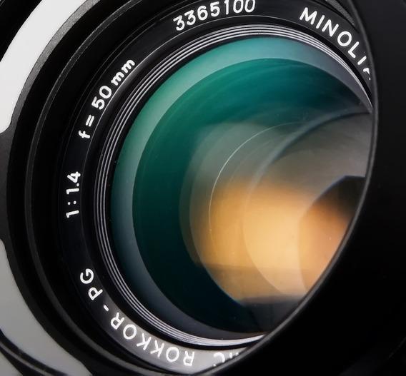 Lente Minolta Mc Rokkor Pg 50mm 1.4\diafragma Contínuo\video
