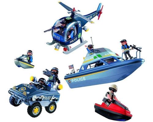 Playmobil Set Policia Fuerzas Especiales Int 9043 Orig Intek