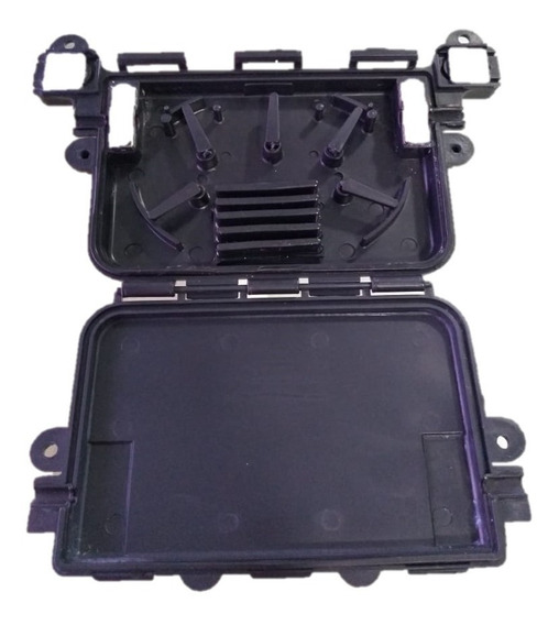 Mini Caixa De Emenda 2 Á 12 Fibras (5 Unid.)- Preto