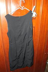 = Roupa Lote 582 Mulher Vestido Preto Básico T43 97cm Forrad