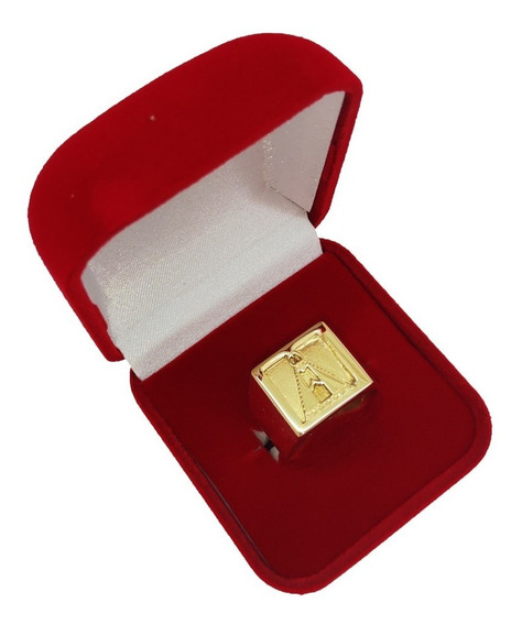 Anel Nossa Senhora Ouro 18kl/750 Masculino 13 Grs
