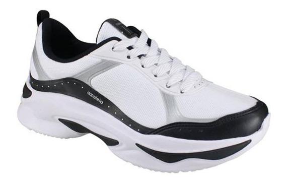Tênis Feminino Azaléia Chunky Sneaker Branco Preto 814/525