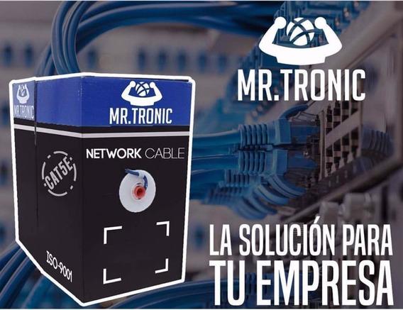 Bobina De Cable Utp Mr. Tronic Cat 5e 305mts Iso-9001