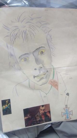 Quadro Sex Pistols Johnny Rotten Ou John Lydon.
