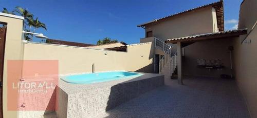 Casa Com Piscina, 2 Dormitórios À Venda, 88 M² Por R$ 280.000 - Santa Júlia - Itanhaém/sp - Ca1971