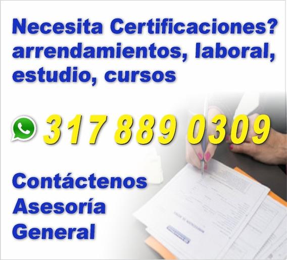 Arriendo, Certificados, Laboral, Cursos Y Mas