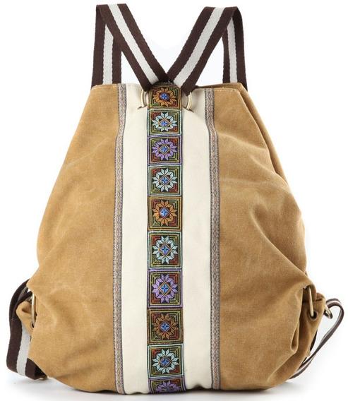 Mochila Bolsa Backpack Dama Mujer Moderno Cafe Claro Goodhan