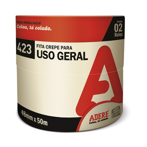 Fita Crepe Uso Geral Adere 48mmx50m - Kit Com 2